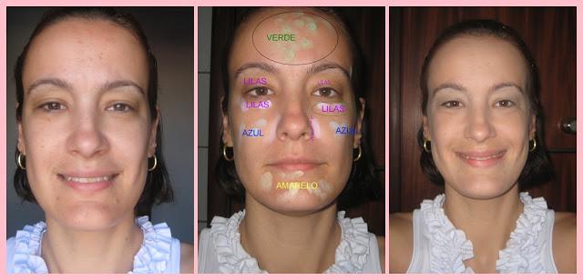 Corretivo facial colorido