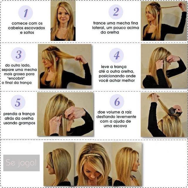 Penteados fáceis de fazer!