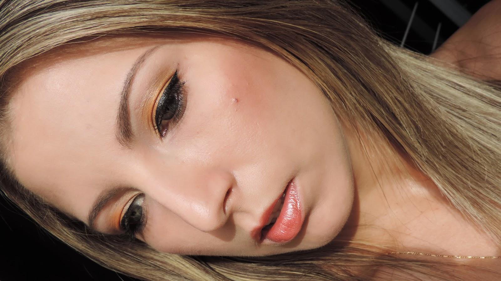 make dourada, maquiagem bronze, efeito bronzeado
