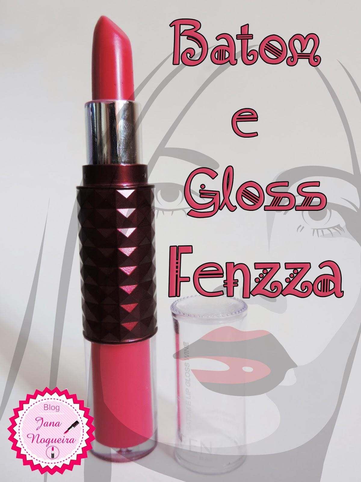 Batom e Lip Gloss wine - Fenzza
