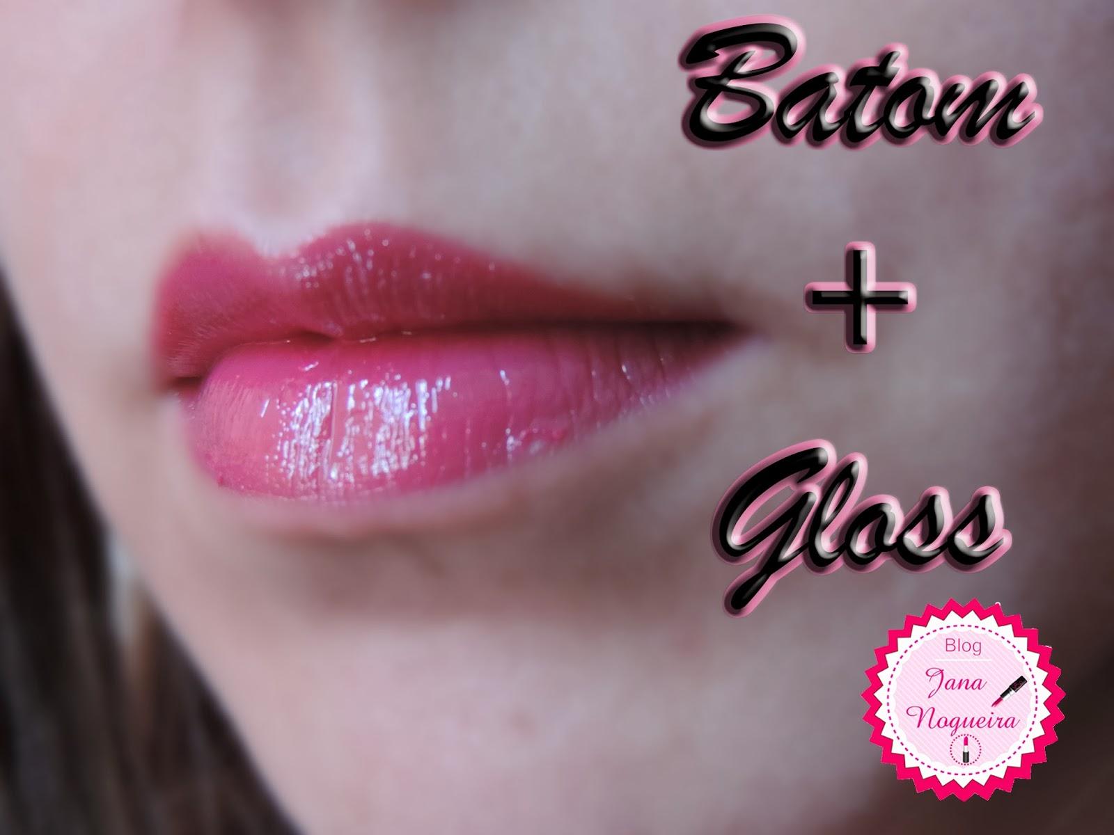 swatch batom pink e gloss, batom e lip gloss wine fenzza