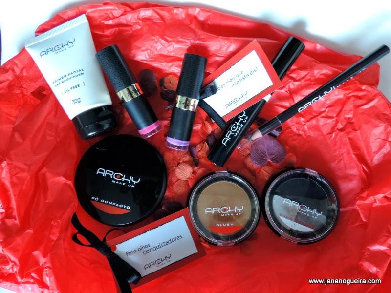 Parceria e produtos recebidos da Archy MakeUp