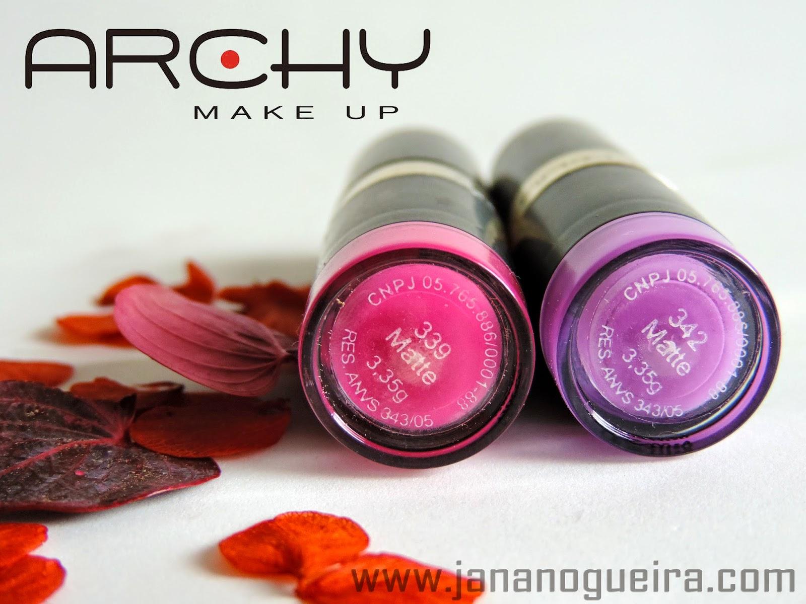 Batons Archy Make up Pink e Lilás