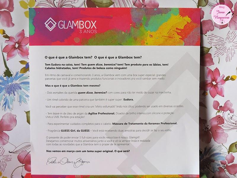 Minha Glambox 3anos - Edição de Aniversário (Fevereiro)