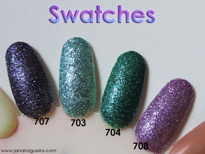 swatches esmaltes glitter forte 2016 hits